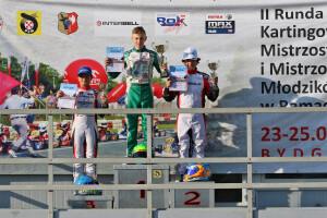 Bartosz Grzywacz na podium KMP w Bydgoszczy